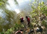 Mergulhadores durante operação de busca - foto do Corpo de Bombeiros