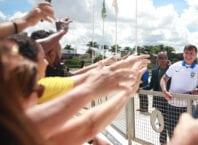 Jair Bolsonaro acompanha manifestação em meio a pandemia de Covid-19 - José Cruz/Agência BrasilPolítica
