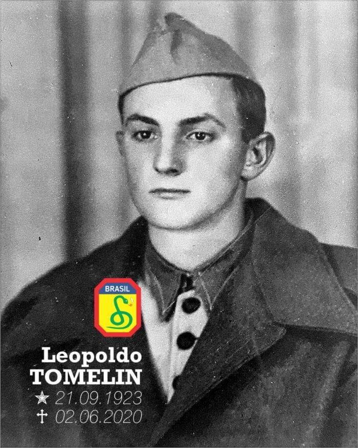 O herói brasileiro Leopoldo Tomelin