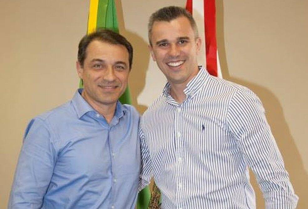 Governador Carlos Moisés e seu então Secretário da Casa Civil, Douglas Borba