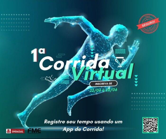 Imagem de divulgação da corrida virtual