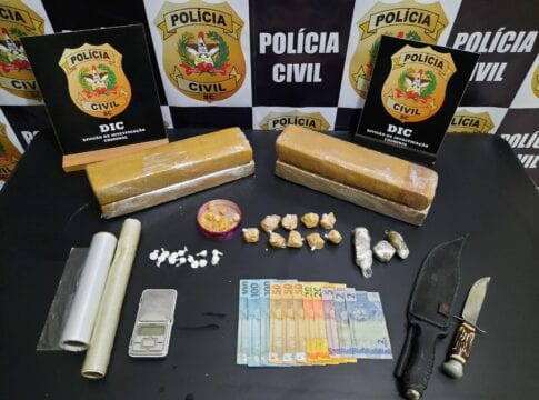 DIC apreende drogas - foto da Polícia Civil
