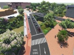 Projeto urbanístico da nova ponte - imagem da Prefeitura de Blumenau