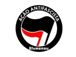 Logotipo criado por grupo antifascista de Blumenau