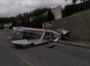 Avião monomotor cai em Guabiruba - foto do Corpo de Bombeiros Militar