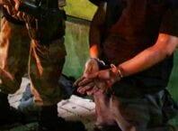 Homem preso por policial em Blumenau - foto da Polícia Militar