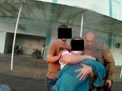 Policiais Militares e bombeiro voluntário salvam vida de bebê recém nascido em Indaial - foto da Polícia Militar