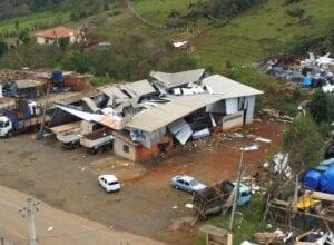 Eventos climáticos causaram prejuízos a 26 municípios do Meio Oeste catarinense - foto de Flavio Vieira Junior
