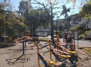 Sete areas já foram isoladas pelo município - foto da Escola Pública de Trânsito (EPT)