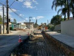 Município pavimenta trecho da Rua Guilherme Scharf neste final de semana