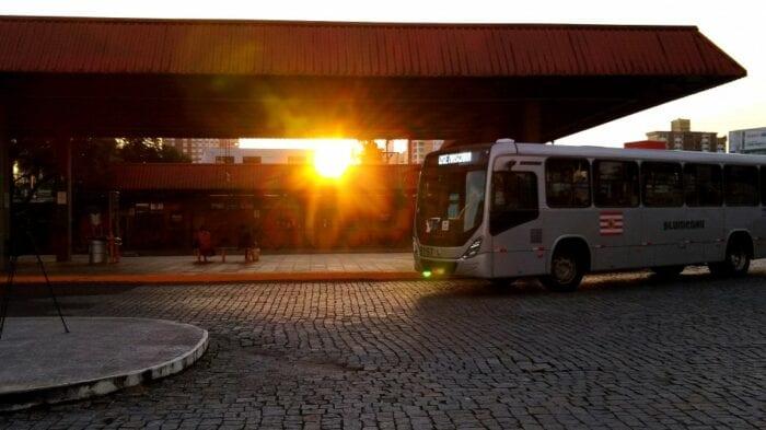 Ônibus do transporte coletivo de Blumenau - foto de Marcelo Martins