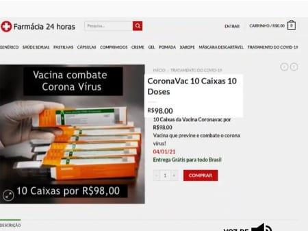 Procon/SC alerta consumidores sobre falsa venda de vacinas contra Covid-19 pela internet