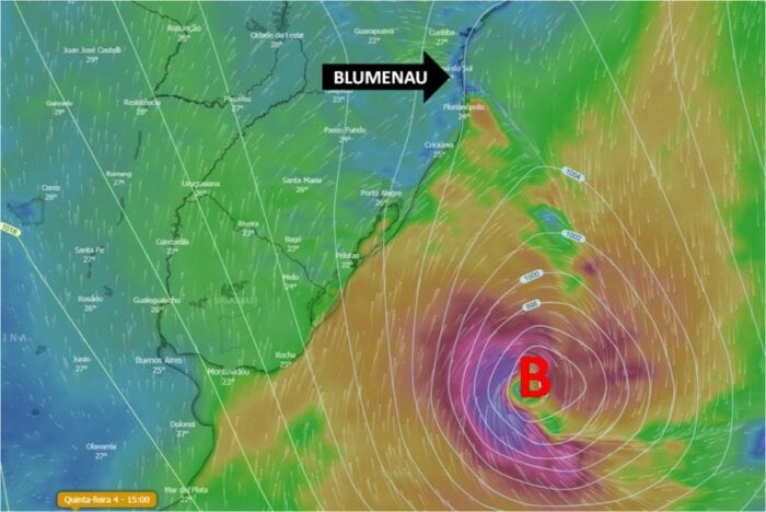 Imagem da formação meteorológica