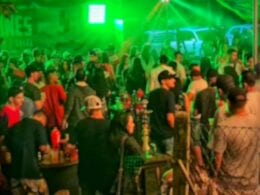 Fiscalização da Polícia Militar em danceterias em Blumenau - foto da PM