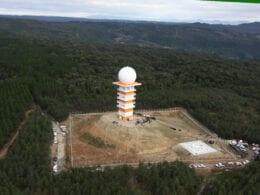 Radar meteorológico de Lontras - foto de James Tavares/Secom
