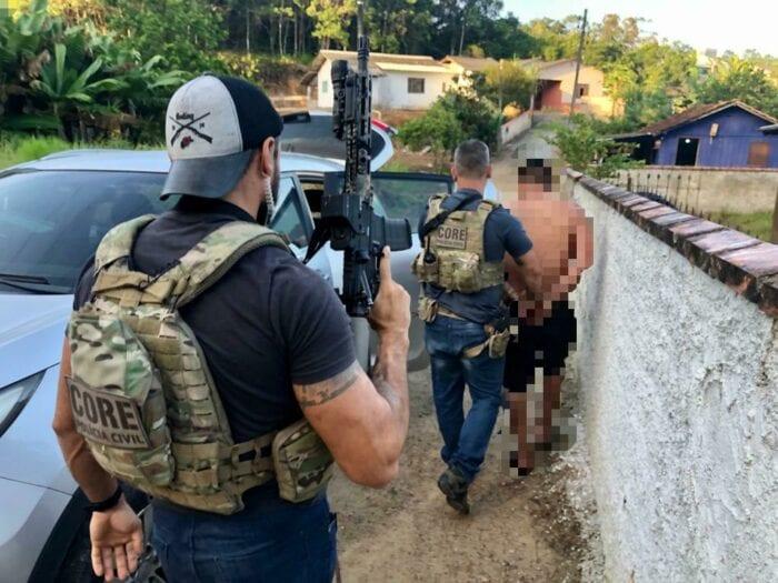 Preso em operação contra assaltantes de banco - foto da Polícia Civil