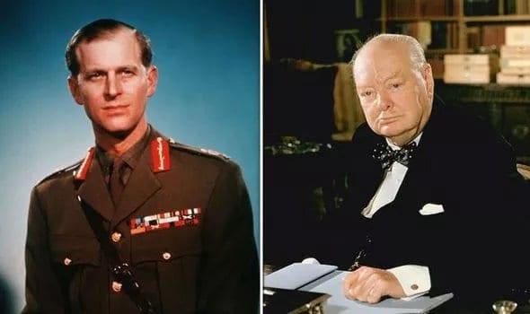 """O PRÍNCIPE E O ESTADISTA - Príncipe Philip; Sir Winston Churchill: """"Grego, não é um escocês bem-nascido"""", afirmou Churchill a jovem Rainha. (Imagem: Getty)"""