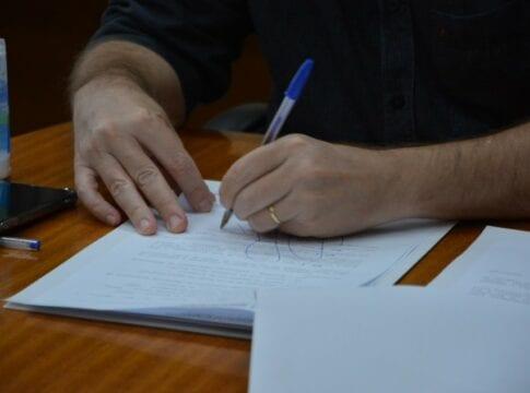 Assinatura de ordem de serviço