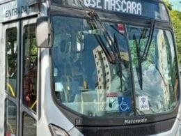 Ônibus do transporte coletivo em Blumenau - foto de Marcelo Martins