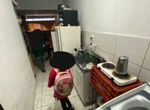 Apartamento em que estavam irmãos - foto da Polícia Civil