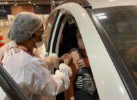 Vacinação em Blumenau - foto de João Vitor Korc