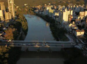 Duplicação da Ponte Adolfo Konder - foto de Eraldo Schnaider