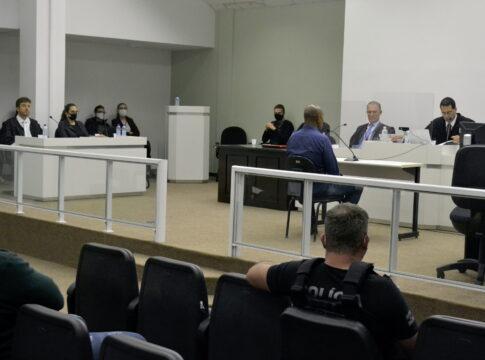 Tribunal do Júri de Carlos Erasmo Luiz dos Santos - foto da Comarca de Blumenau