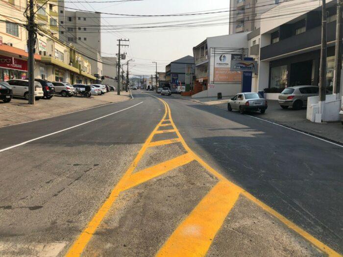 Rua Frei Estanislau Schaette - foto da Secretaria de Obras