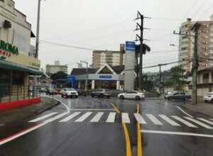 Rotatória em cruzamento da Rua Almirante Barroso - foto da Prefeitura